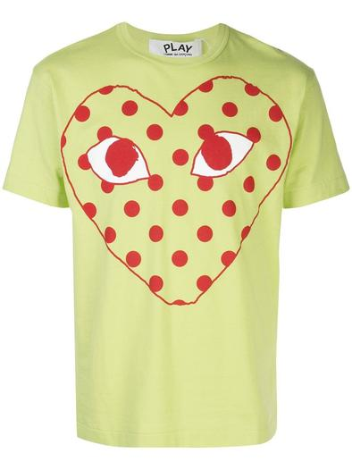 COMME DES GARCON PLAY GREEN T-SHIRT