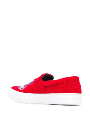 KENZO RED SLIP ON SNEAKERS