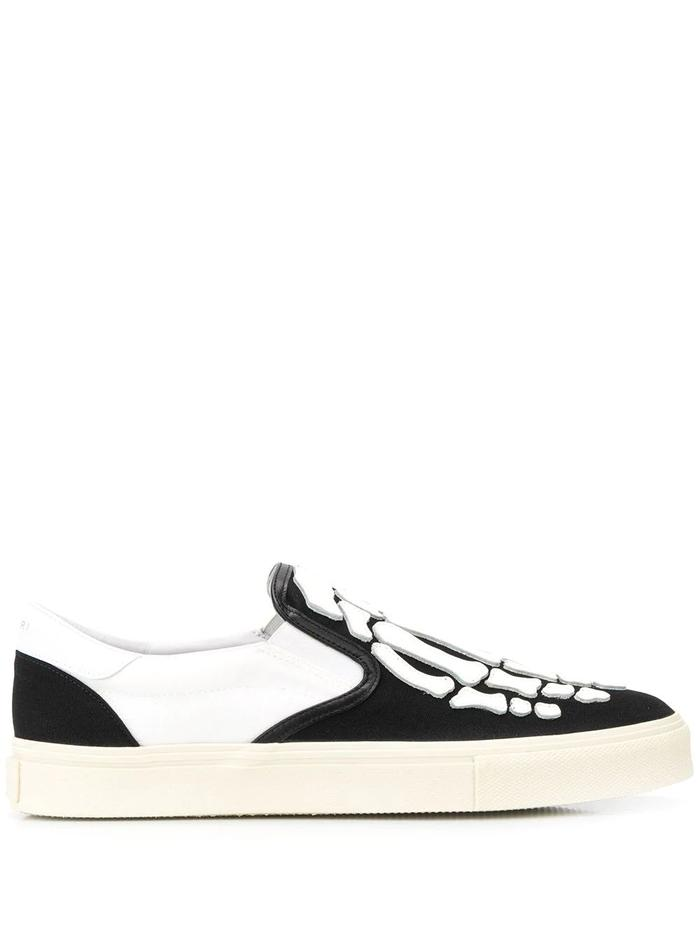 AMIRI WHITE SLIP ON SNEAKERS