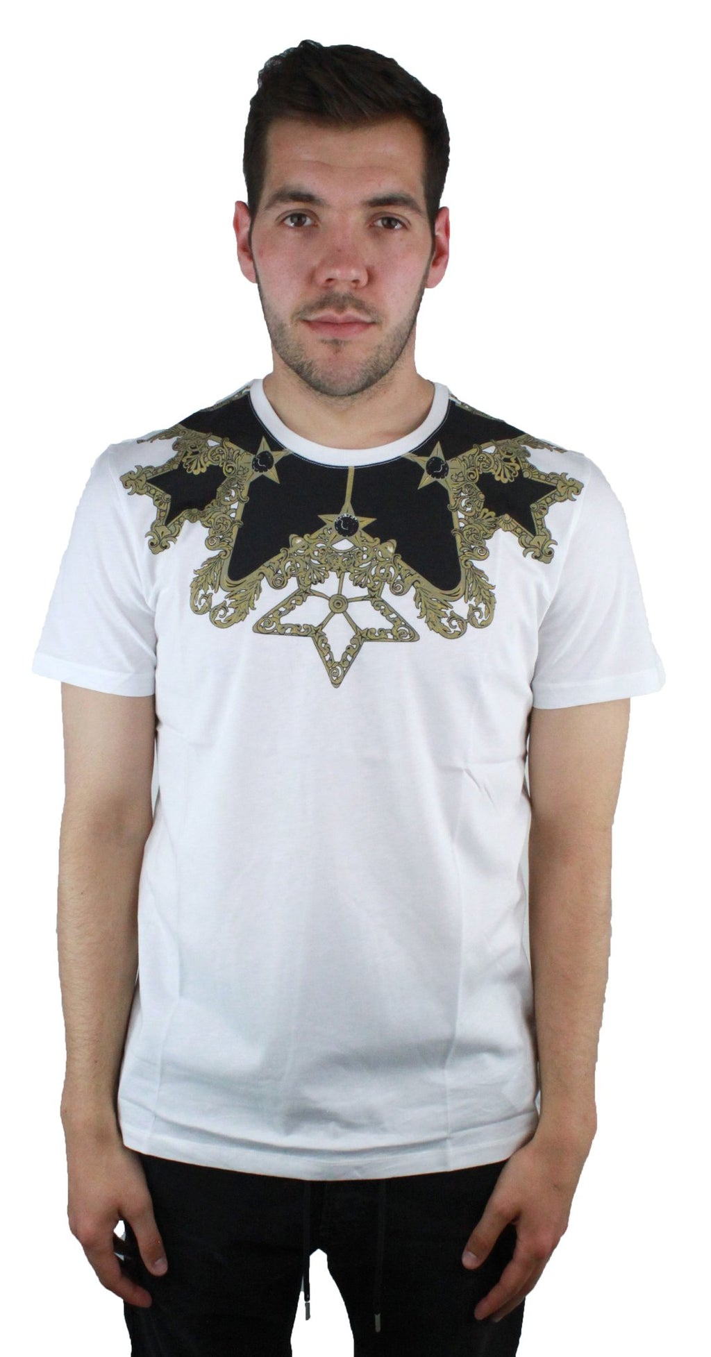 Versace Collection V800683S VJ00289 V7001 White T-Shirt