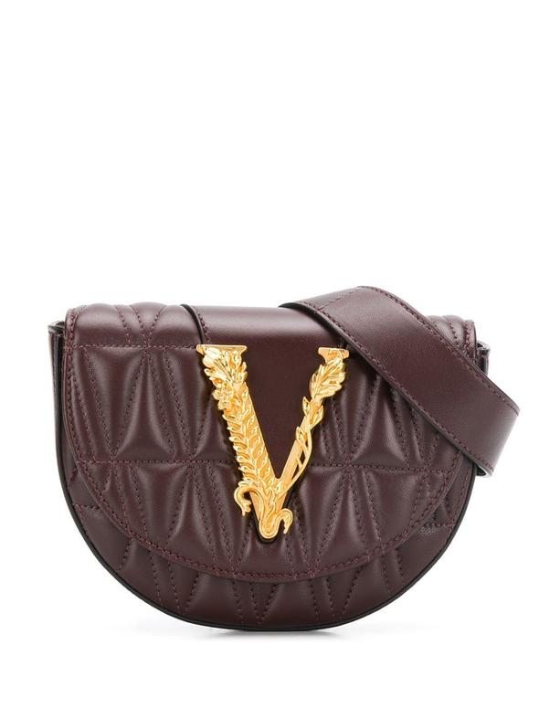 VERSACE BROWN BELT BAG