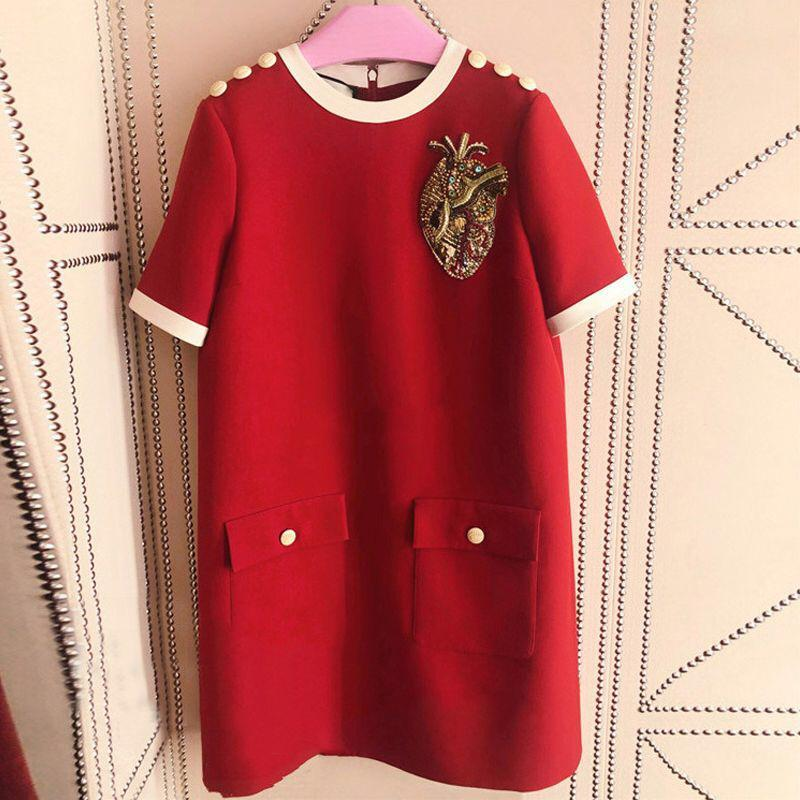 Gucci Red Shift Dress