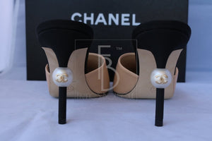 Chanel Mule Heels With Pearls