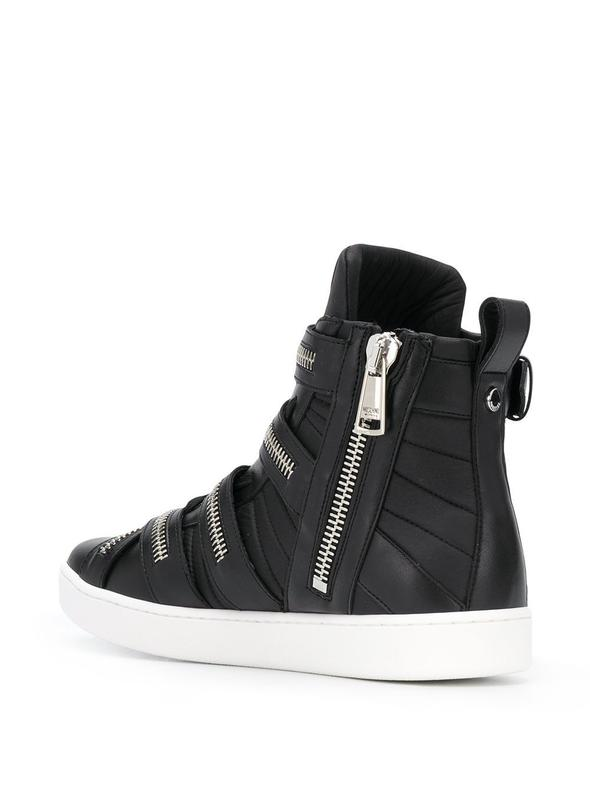 MOSCHINO BLACK HI TOP SNEAKERS