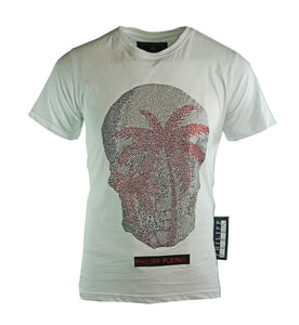 Philipp Plein MTK3070 01 White T-Shirt