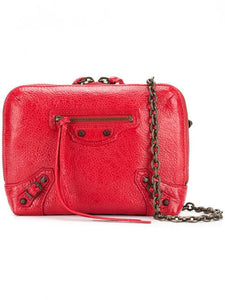 BALENCIAGA RED SHOULDER BAG