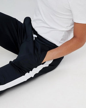 Fb Jogging Pants With Side Stripes