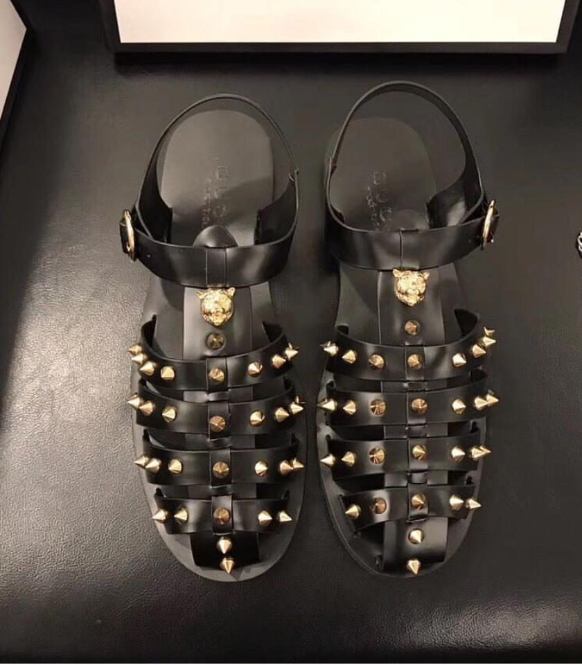 Gucci Rubber Buckle Sandals