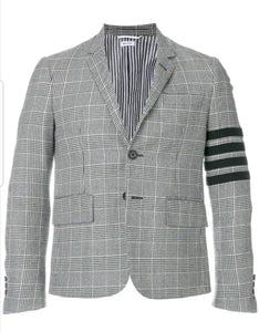 Thom Browne 4-Bar Prince Of Wales Sport Coat