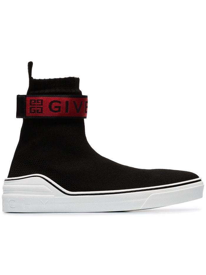 GIVENCHY BLACK HI TOP SNEAKERS
