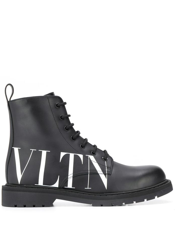 VALENTINO BLACK ANKLE BOOTS