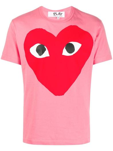 COMME DES GARCON PLAY PINK T-SHIRT