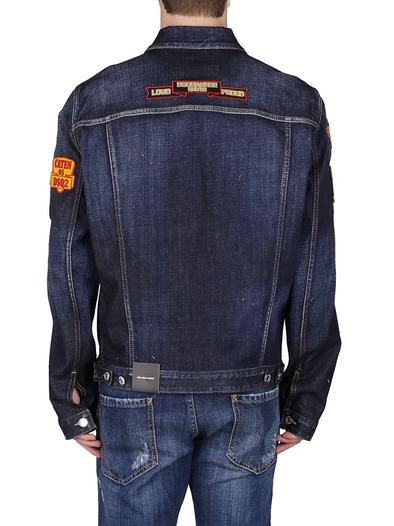 DSQUARED2 BLUE OUTERWEAR JACKET