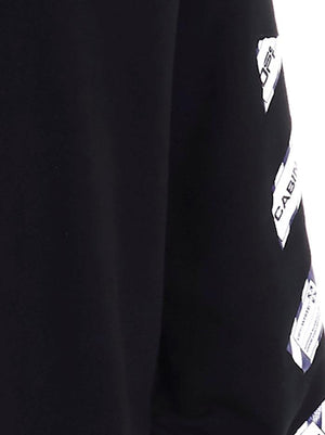 OFF-WHITE BLACK SWEATSHIRT