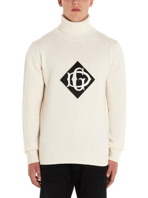 DOLCE E GABBANA WHITE SWEATER