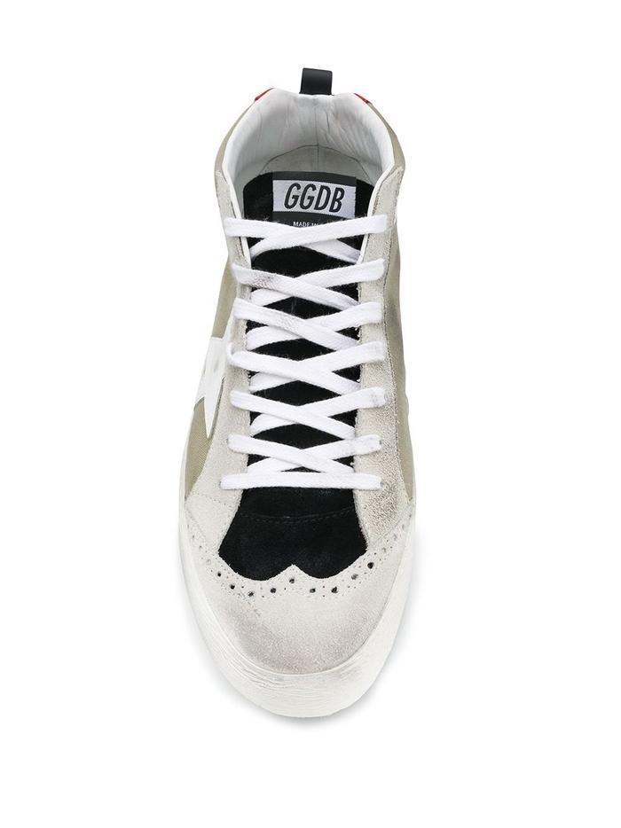 GOLDEN GOOSE BEIGE HI TOP SNEAKERS