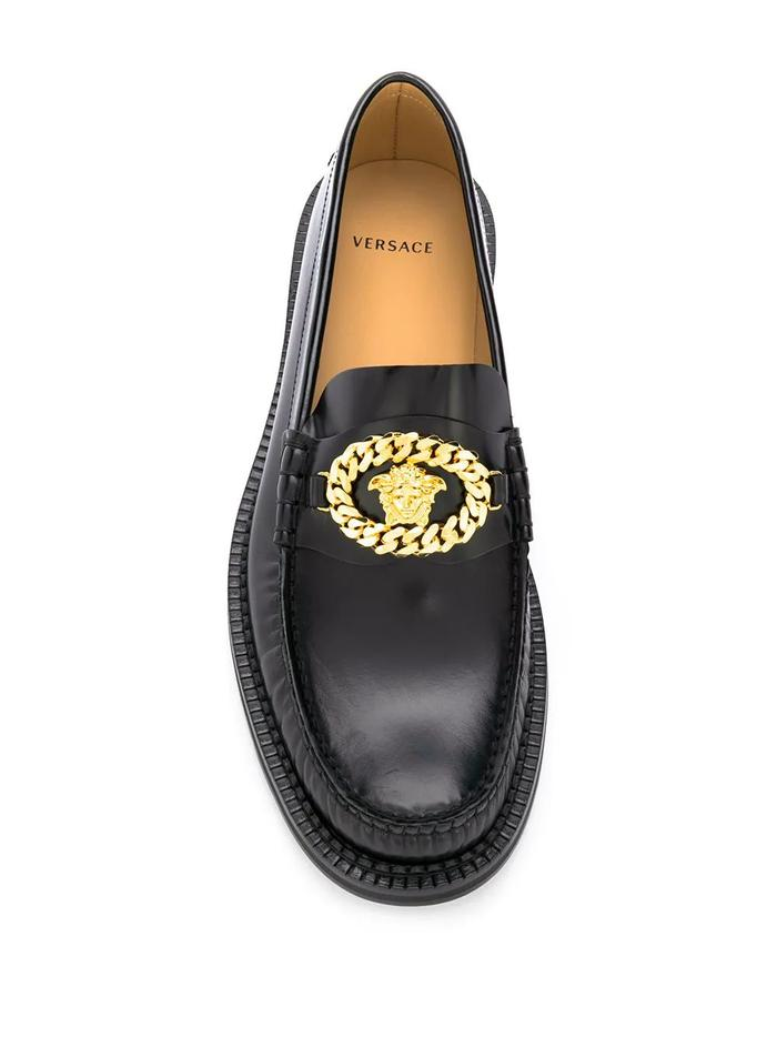 VERSACE BLACK LOAFERS