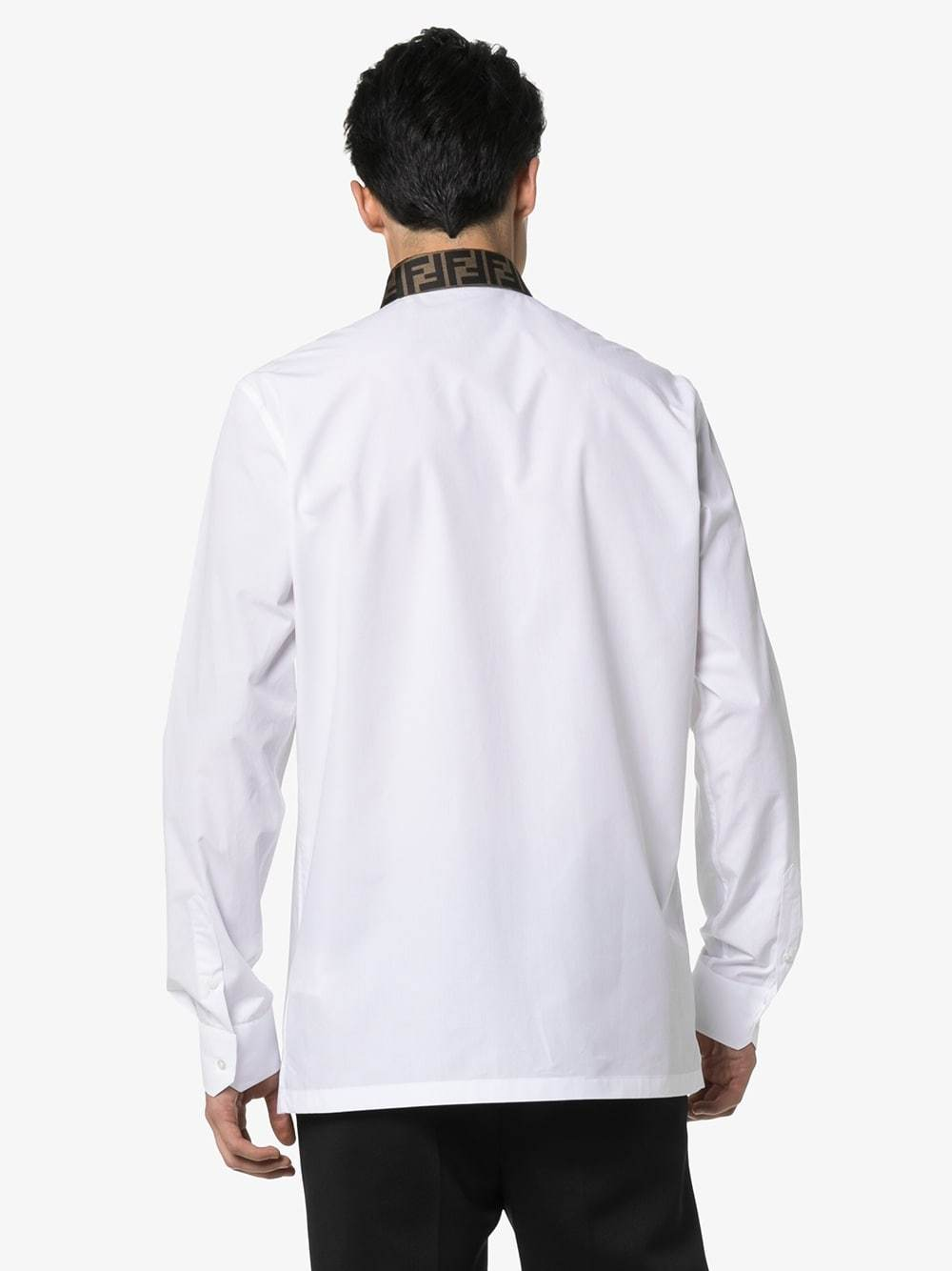 Fendi Logo Collar Tailored Shirt