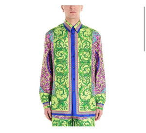 VERSACE GREEN SHIRT