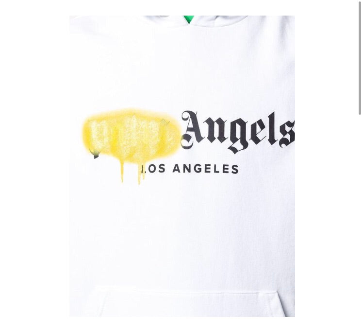 PALM ANGELS WHITE SWEATSHIRT