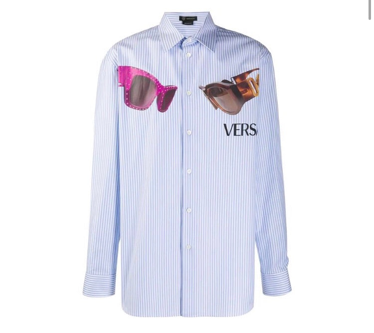 VERSACE LIGHT BLUE SHIRT