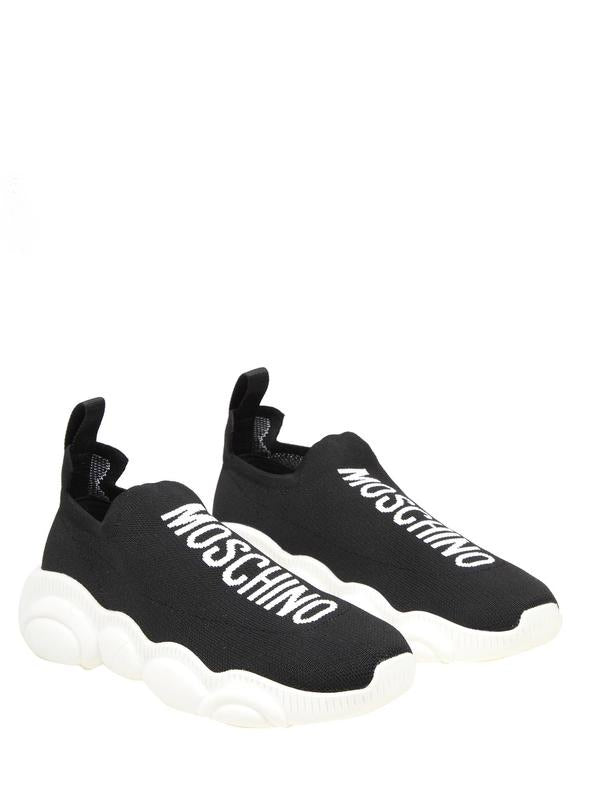 MOSCHINO BLACK SLIP ON SNEAKERS