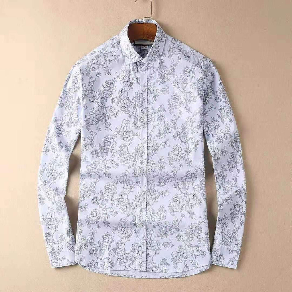 Gucci Floral Print Cotton Shirt