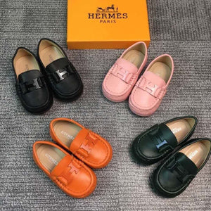 Hermes Inspired Kids Moccassins