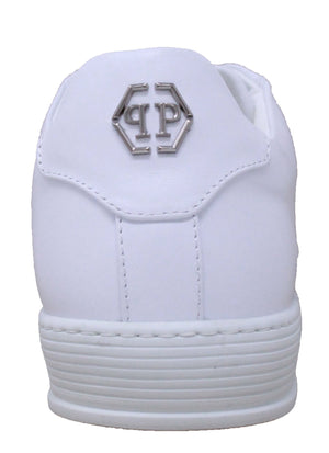 "Philipp Plein MSC1333 0191 ""The First Time In My Life"" White Sneakers"
