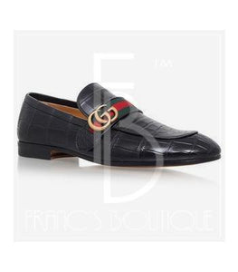 Gucci Revolt Crocodile Skin Loafers