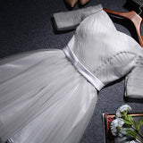 105136S04(Size:S) Women s Lovely White Off The Shoulder Solid Knee-Length Evening Dress