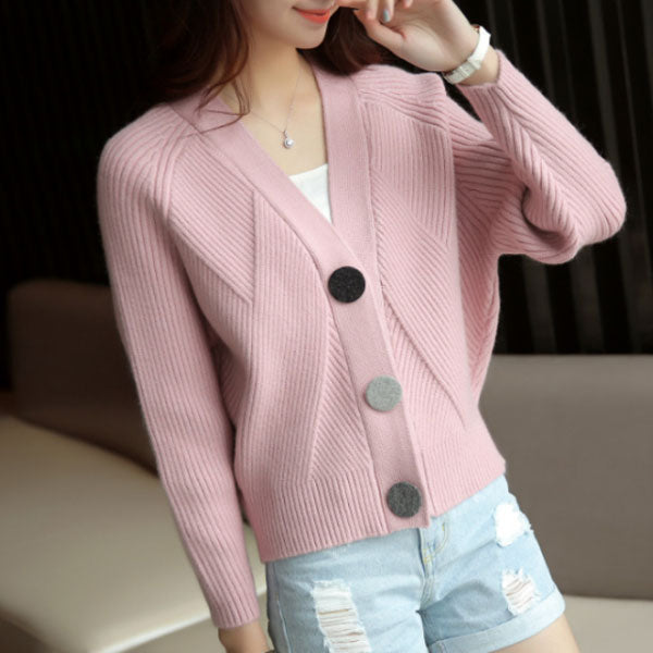 4234656910 Women s New Pink Solid Sweater