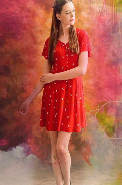 Love in Red Sweetheart dress