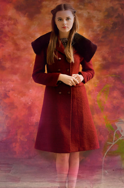 Detachable Collar Coat, One Coat in two Style