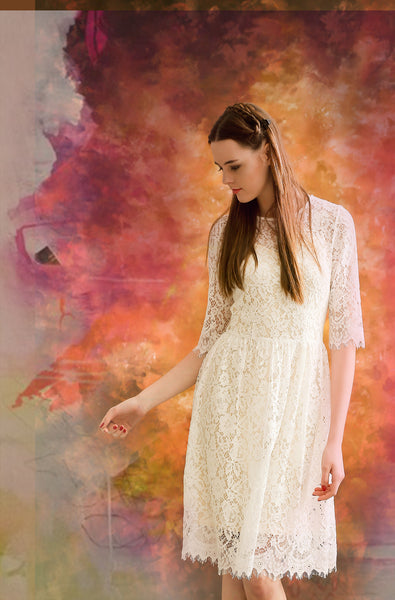 The Pure Angel White Lace Dress