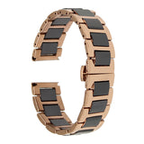 18mm 20mm 22mm Ceramic Watch Band + Tool for Rolex Butterfly Buckle Strap Wrist Belt Bracelet Black Rose Gold White