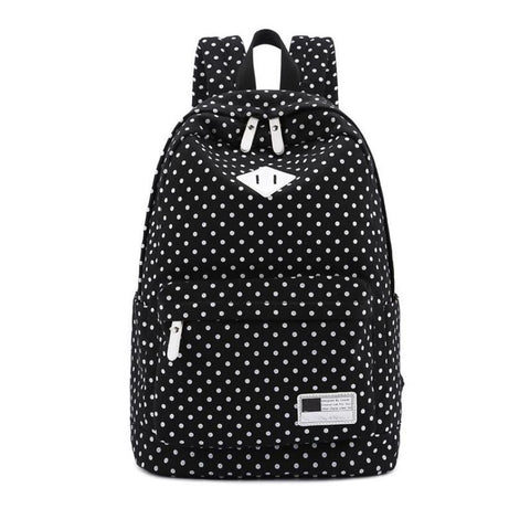 Backpack Bags For Unisex Canvas Backpack Polka Dot Girls Boys School Shoulder Bag Travel Rucksacks mochila feminina