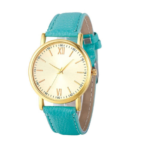 2017 New Fashion Wristwatches Women PU Leather Band Simple Women Dress Watches Women Quartz-Watch Relogio Feminino #504