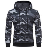 Mens' Long Sleeve Camouflage Hoodie Hooded Sweatshirt Tops Jacket Coat Outwear