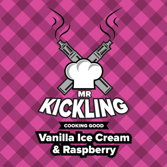 Mr Kickling: Vanilla Ice Cream & Raspberry - 50ml Shortfill /w Free 10ml Nic Shot - No1VapeTrail