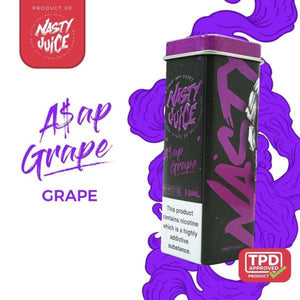 NASTY JUICE – A$AP GRAPE E-LIQUID (10ML) - No1VapeTrail