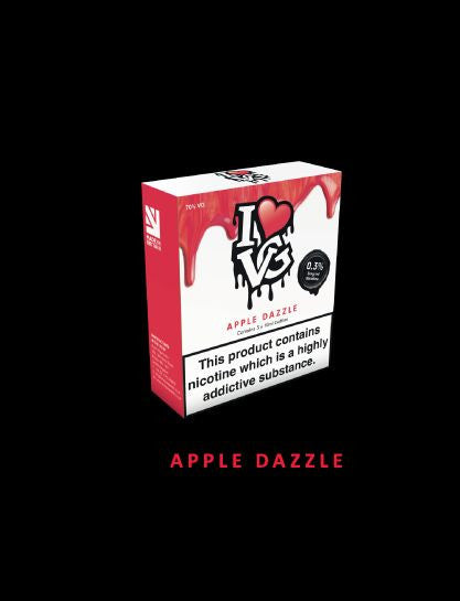 I love VG  Apple Dazzle  TPD Compliant 3x 10ml - No1VapeTrail