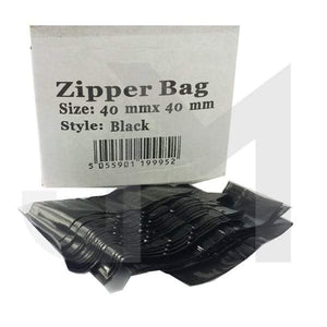 40mm x 40mm Black Zipper Bags - No1VapeTrail