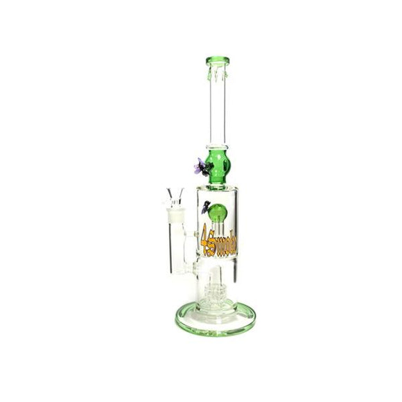 4Smoke Multi Colour Percolator Glass Bong - 1510 - 3028