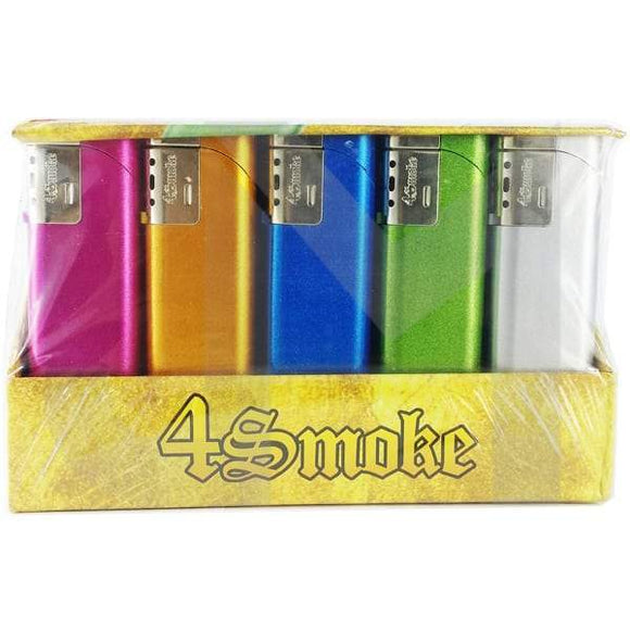 4Smoke Wind-Proof Metallic Electronic Lighter - 218WE - No1VapeTrail