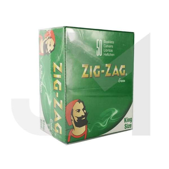 50 Zig-Zag Green King Size Rolling Papers - No1VapeTrail