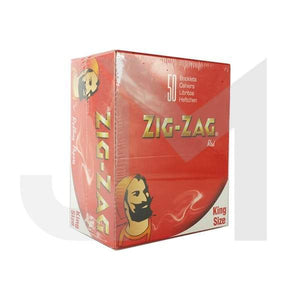 50 Zig-Zag Red King Size Rolling Papers - No1VapeTrail