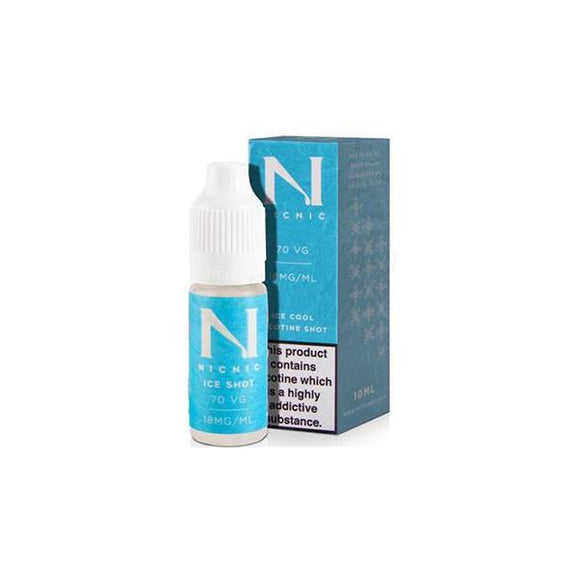 18mg Ice Cool Nic Shot 10ml by Nic Nic (70VG-30PG) - No1VapeTrail