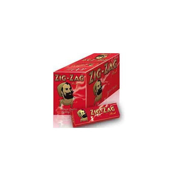 10 Pack x 8 Booklet Zig-Zag Red Regular Size Rolling Papers - No1VapeTrail