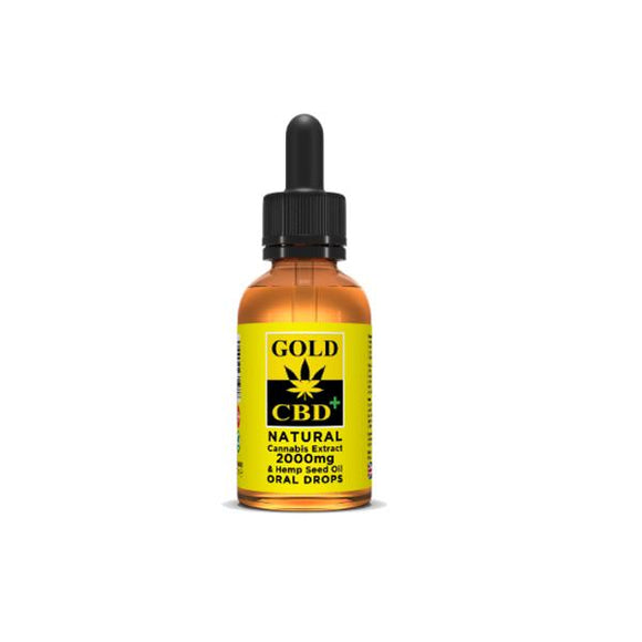 Gold CBD 2000mg CBD Cannabis Extract Hemp Seed Oil 30ml